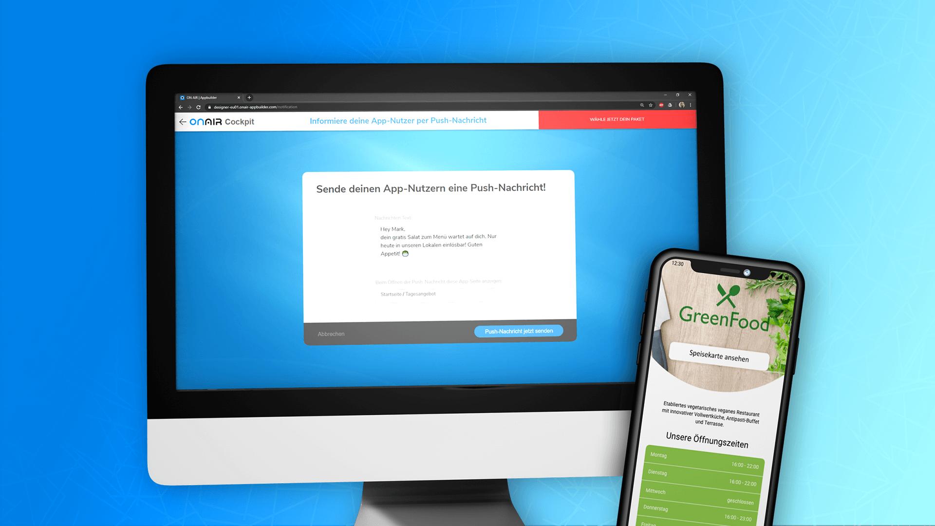 ON AIR Appbilder - Push-Nachrichten über den Appbuilder versenden