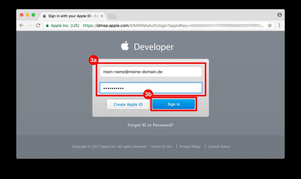 ON AIR Appbuilder - Apple Developer Apple Login