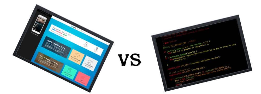 ON AIR Appbuilder - Appbuilder vs. Programmierung