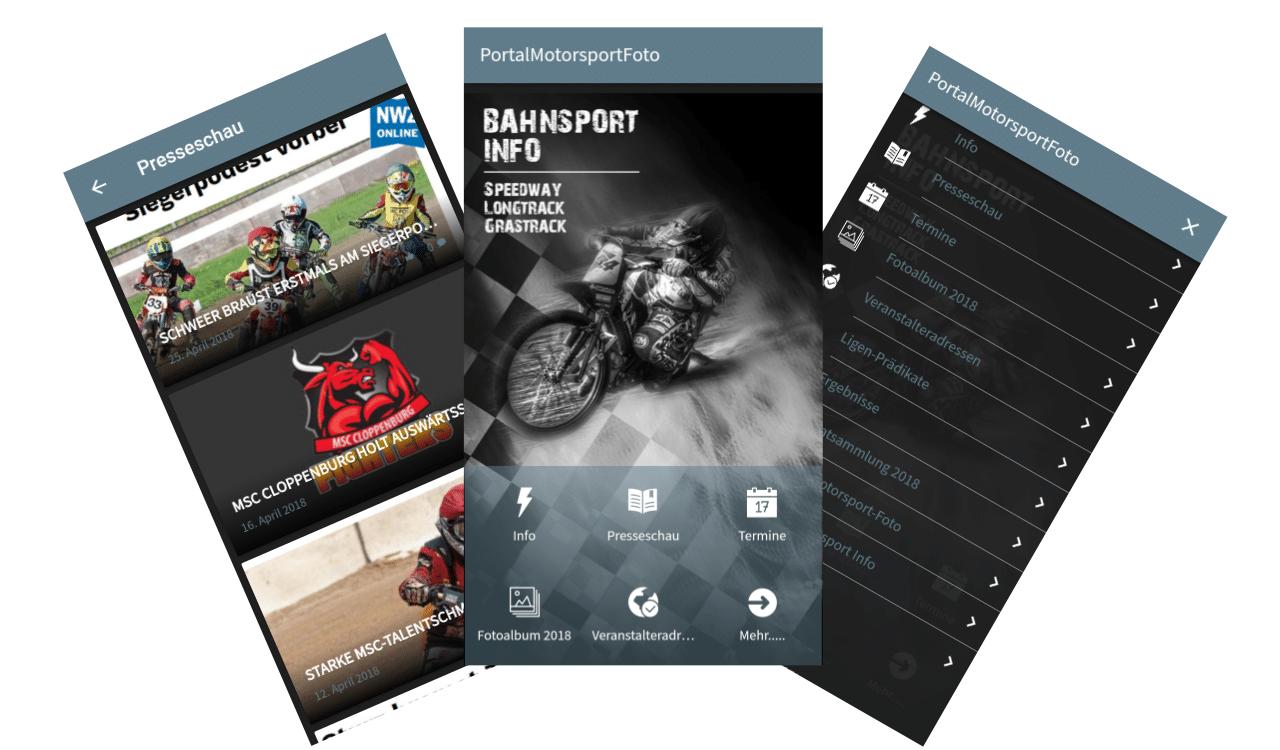 ON AIR Appbuilder - Bahnsport Info