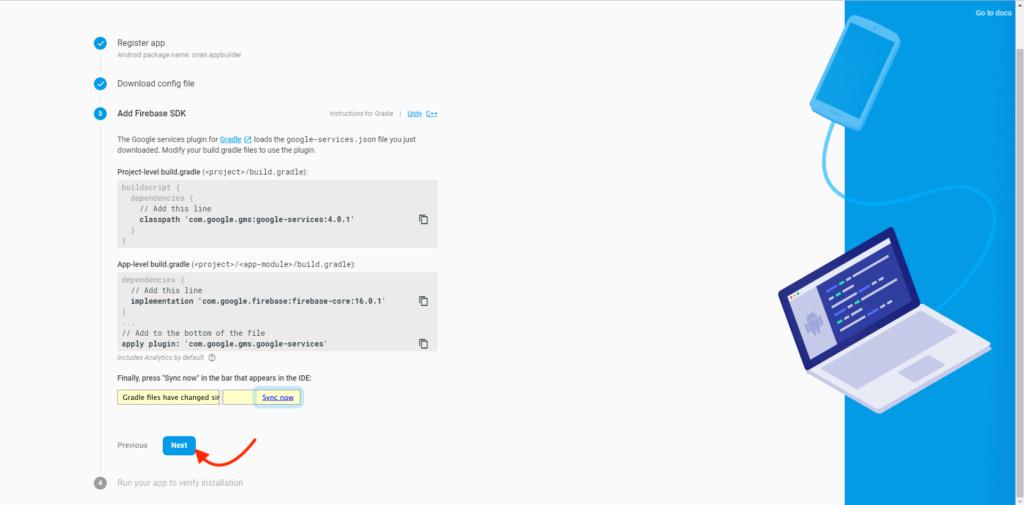 ON AIR Appbuilder - Google-Service JSON Datei - Schritt 7