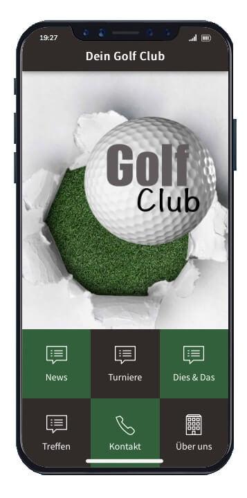 ON AIR Appbuilder - Golfclub Vereins-App