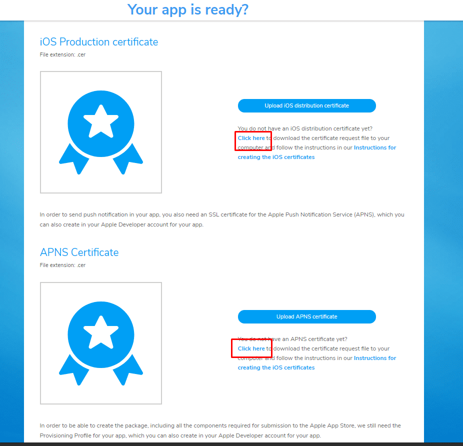 ON AIR Appbuilder - Apple Certificates - Step 1