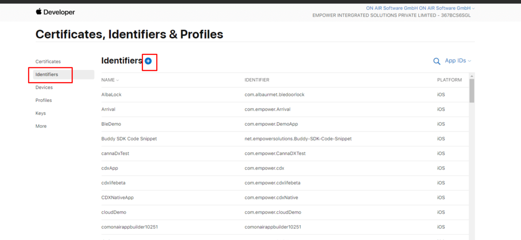 ON AIR Appbuilder - Apple Certificates - Step 4