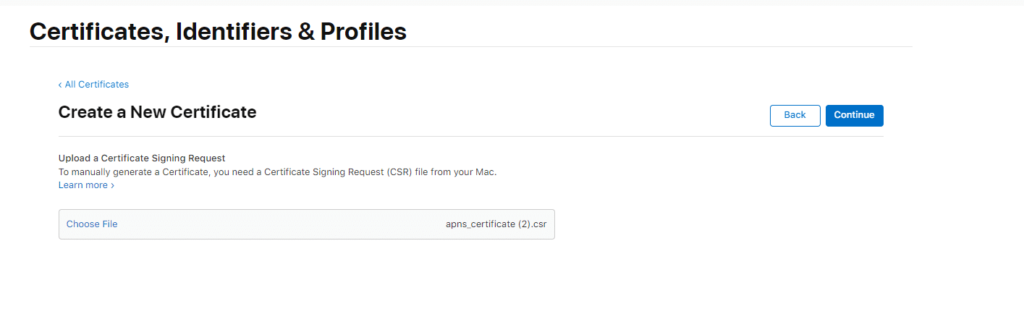 ON AIR Appbuilder - Apple Certificates - Step 13