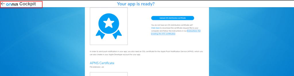 ON AIR Appbuilder - Apple Certificates - Step 20