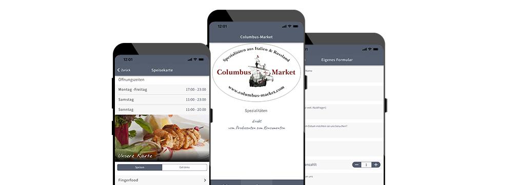 ON AIR Appbuilder - Columbus Market Kundenapp