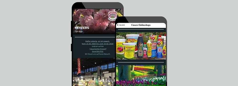 ON AIR Appbuilder - KEYZERS Blumenwelt Kundenapp
