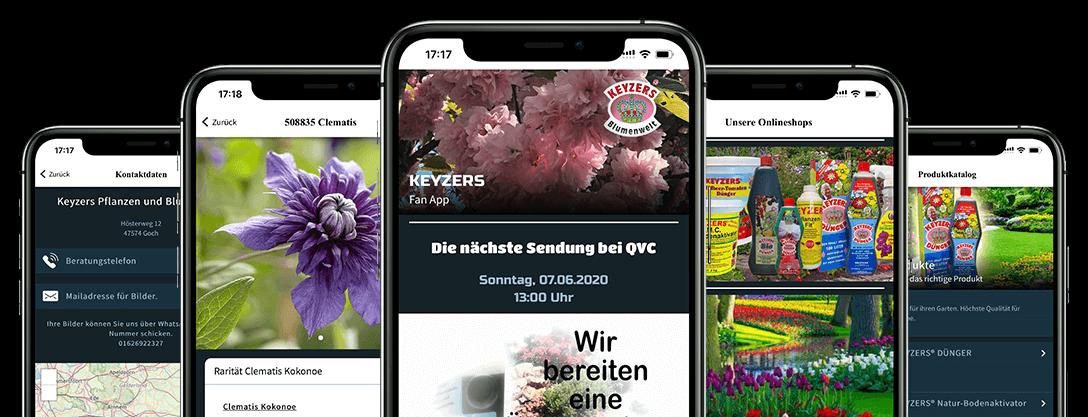 ON AIR Appbuilder - Keyzers Blumenwelt App